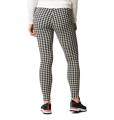 Women's Glacial™ Fleece Printed Leggings Pants Glacial™ Fleece Printed Legging | 014 | L, Chalk Houndstooth, back