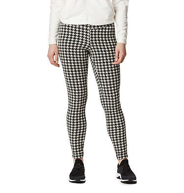 Women's Glacial™ Fleece Printed Leggings Pants Glacial™ Fleece Printed Legging | 014 | L, Chalk Houndstooth, front