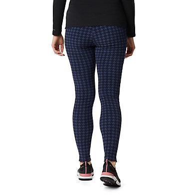 Women's Glacial™ Fleece Printed Leggings Pants Glacial™ Fleece Printed Legging | 014 | L, Dark Nocturnal Houndstooth, back