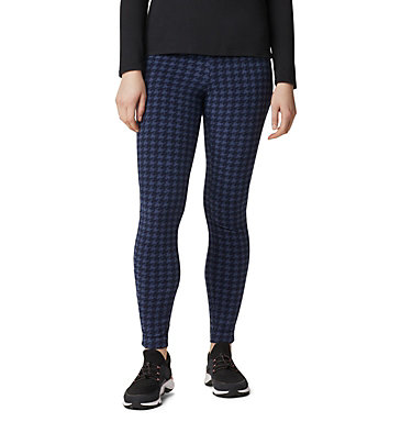 Women's Glacial™ Fleece Printed Leggings Pants Glacial™ Fleece Printed Legging | 014 | L, Dark Nocturnal Houndstooth, front