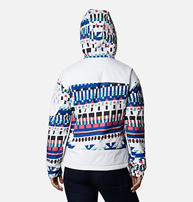 Women's Challenger™ Pullover Jacket Challenger™ Pullover | 101 | L, White Multi Icons Print, back