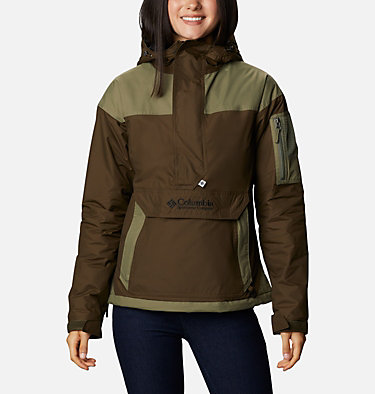Women's Challenger™ Pullover Jacket Challenger™ Pullover | 101 | L, Olive Green, Stone Green, Black, front