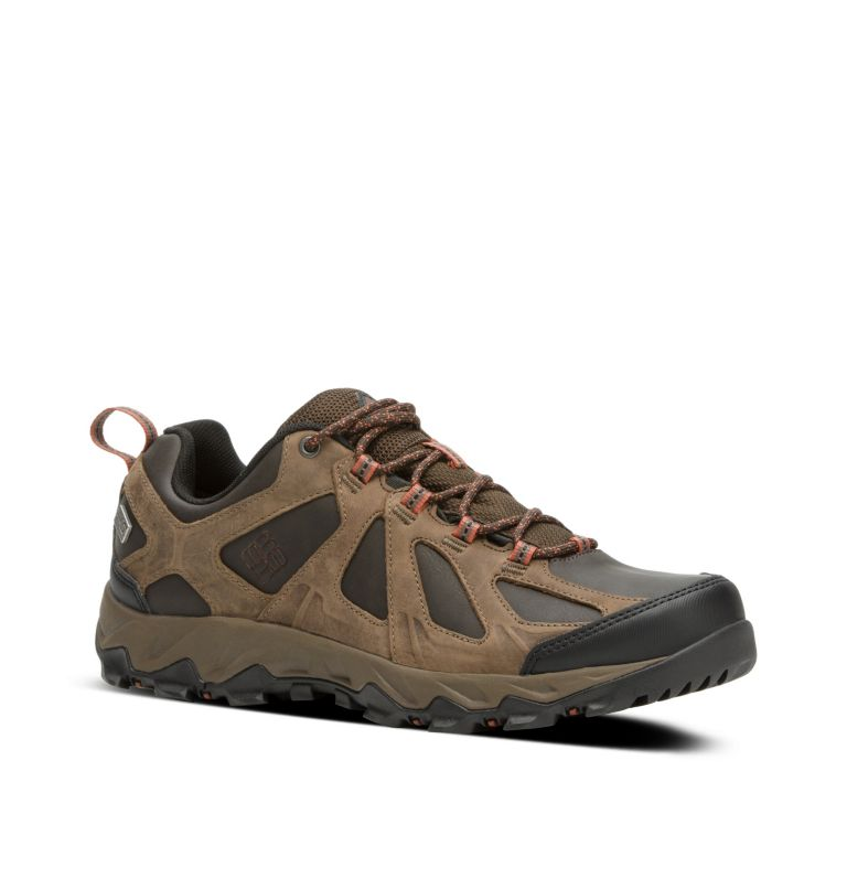Men's Peakfreak XCRSN II Low Leather OutDry™ Trail Shoe Men's Peakfreak XCRSN II Low Leather OutDry™ Trail Shoe, 3/4 front