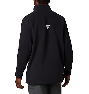 Men's Collegiate PFG Harborside™ Fleece Jacket - Virginia Tech CLG Harborside™ Fleece Pullover | 065 | L, VT - Black, back