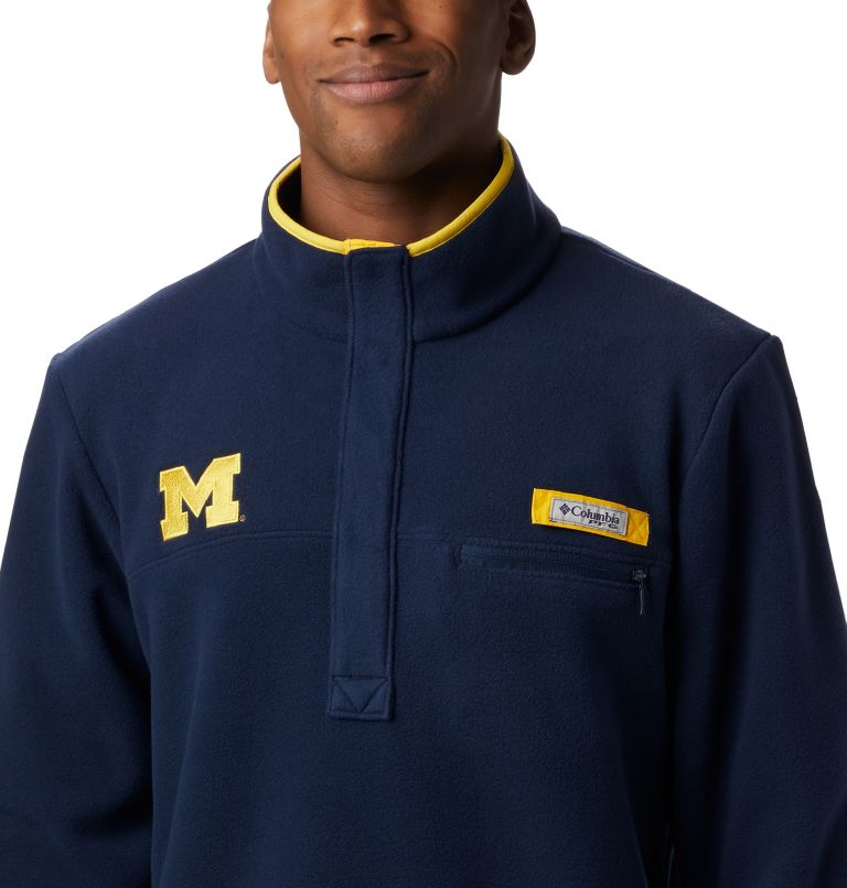 Men's Collegiate PFG Harborside™ Fleece Jacket - Michigan Men's Collegiate PFG Harborside™ Fleece Jacket - Michigan, a2