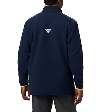 Men's Collegiate PFG Harborside™ Fleece Jacket - Michigan CLG Harborside™ Fleece Pullover | 424 | XXL, UM - Collegiate Navy, back