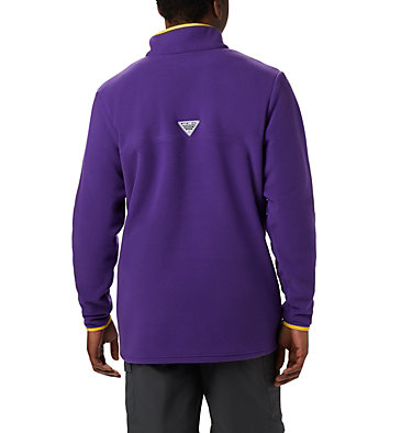 Men's Collegiate PFG Harborside™ Fleece - LSU CLG Harborside™ Fleece Pullover | 517 | S, LSU - Vivid Purple, back