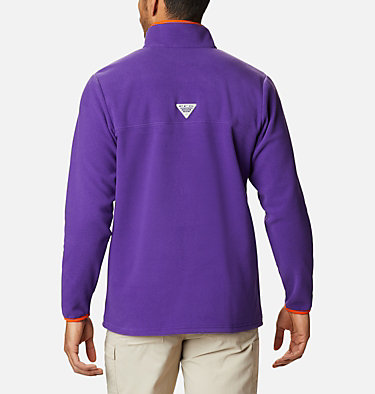 Men's Collegiate PFG Harborside™ Fleece Jacket - Clemson CLG Harborside™ Fleece Pullover | 558 | S, CLE - Vivid Purple, back