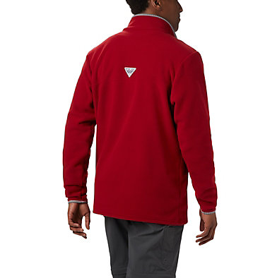 Men's Collegiate PFG Harborside™ Fleece Jacket - Alabama CLG Harborside™ Fleece Pullover | 678 | XL, ALA - Red Velvet, back