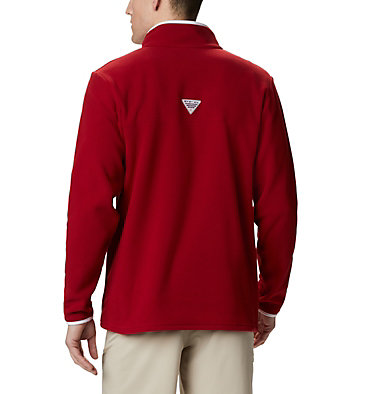 Men's Collegiate PFG Harborside™ Fleece Jacket - Oklahoma CLG Harborside™ Fleece Pullover | 685 | S, OK - Red Velvet, back