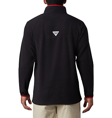 Men's Collegiate PFG Harborside™ Fleece - Georgia CLG Harborside™ Fleece Pullover | 772 | S, UGA - Black, back
