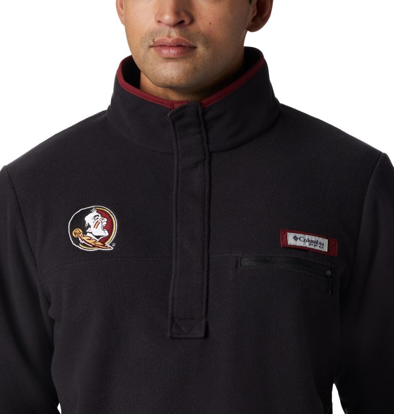 CLG Harborside™ Fleece Pullover | 787 | XL Men's Collegiate PFG Harborside™ Fleece - Florida State, FSU - Black, a1