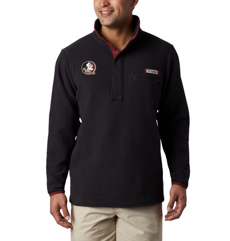 CLG Harborside™ Fleece Pullover | 787 | XL Men's Collegiate PFG Harborside™ Fleece - Florida State, FSU - Black, front