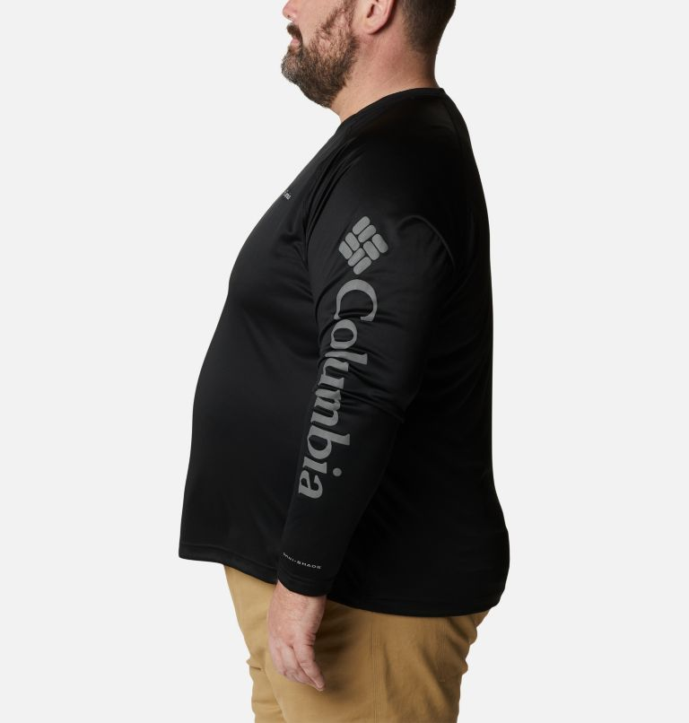 Fork Stream™ Long Sleeve Shirt | 013 | 3X Men's Fork Stream™ Long Sleeve Shirt – Big, Black, City Grey Logo, a1