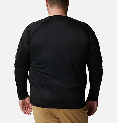 T-shirt à manches longues Fork Stream™ pour homme – Grandes tailles Fork Stream™ Long Sleeve Shirt | 013 | 1X, Black, City Grey Logo, back