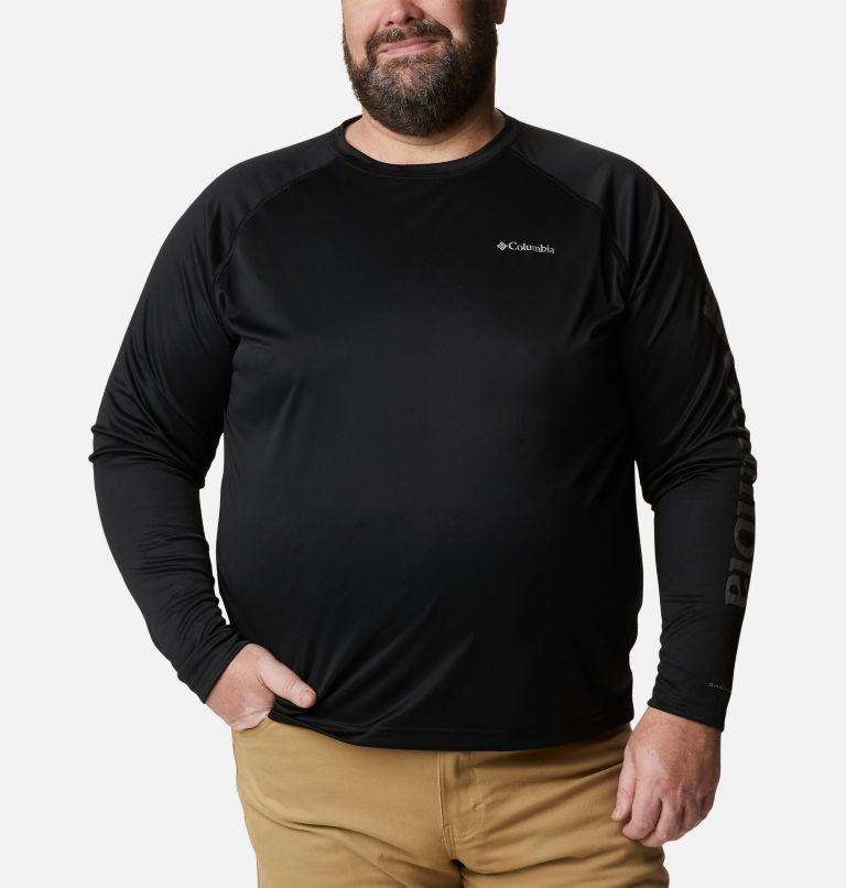 Fork Stream™ Long Sleeve Shirt | 013 | 3X Men's Fork Stream™ Long Sleeve Shirt – Big, Black, City Grey Logo, front