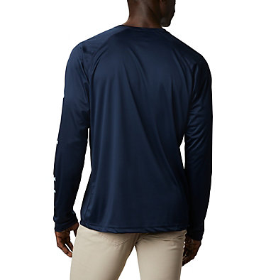 T-shirt à manches longues Fork Stream™ pour homme – Grandes tailles Fork Stream™ Long Sleeve Shirt | 013 | 1X, Collegiate Navy, Sky Blue, back
