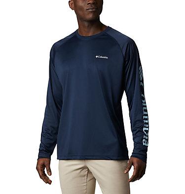 Men's Fork Stream™ Long Sleeve Shirt – Big Fork Stream™ Long Sleeve Shirt | 013 | 1X, Collegiate Navy, Sky Blue, front