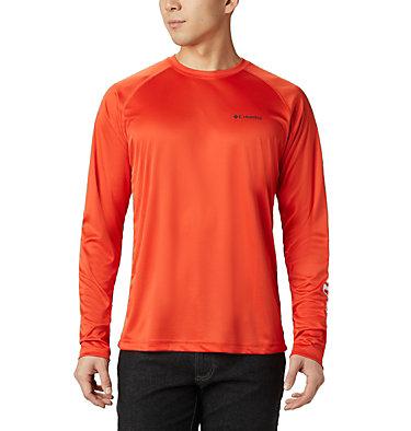 Men's Fork Stream™ Long Sleeve Shirt – Big Fork Stream™ Long Sleeve Shirt | 013 | 1X, Wildfire, White, front