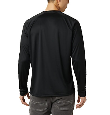 T-shirt à manches longues Fork Stream™ pour homme – Grandes tailles Fork Stream™ Long Sleeve Shirt | 013 | 2XT, Black, City Grey Logo, back