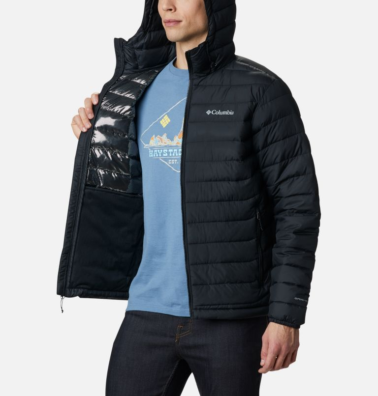 Powder Lite™ Hooded Jacket | 010 | XXL Men's Powder Lite™ Hooded Insulated Jacket, Black, a3