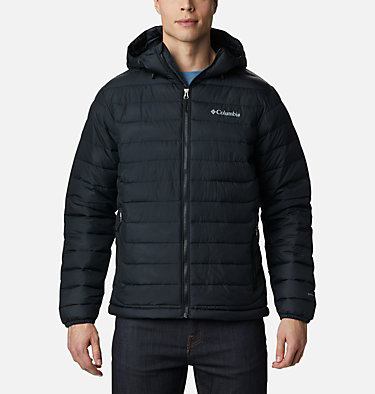 Men's Powder Lite™ Hooded Insulated Jacket Powder Lite™ Hooded Jacket | 043 | XS, Black, front