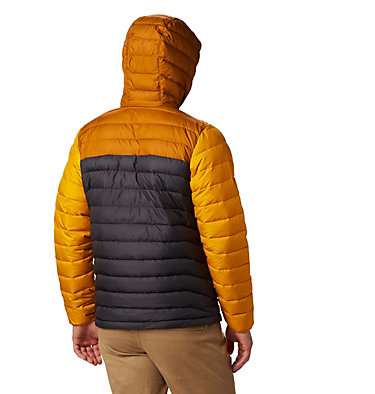 Men's Powder Lite™ Hooded Down Jacket Powder Lite™ Hooded Jacket | 043 | XS, Shark, Burnished Amber, back