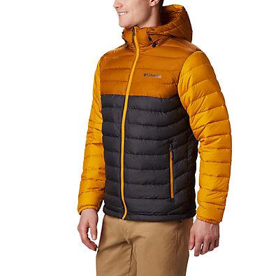 Men's Powder Lite™ Hooded Down Jacket Powder Lite™ Hooded Jacket | 043 | XS, Shark, Burnished Amber, front