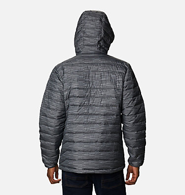 Men's Powder Lite™ Hooded Insulated Jacket Powder Lite™ Hooded Jacket | 432 | S, City Grey Columns, back