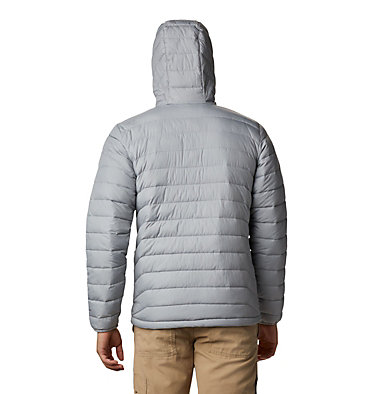 Men's Powder Lite™ Hooded Insulated Jacket Powder Lite™ Hooded Jacket | 432 | S, Columbia Grey, back