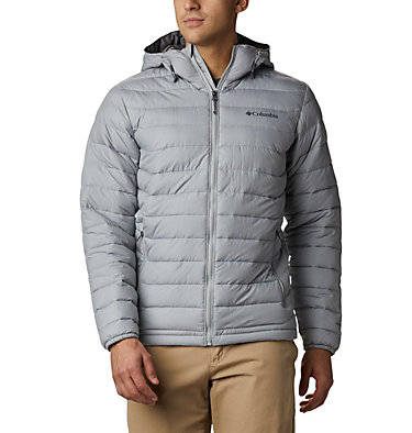 Men's Powder Lite™ Hooded Insulated Jacket Powder Lite™ Hooded Jacket | 432 | S, Columbia Grey, front
