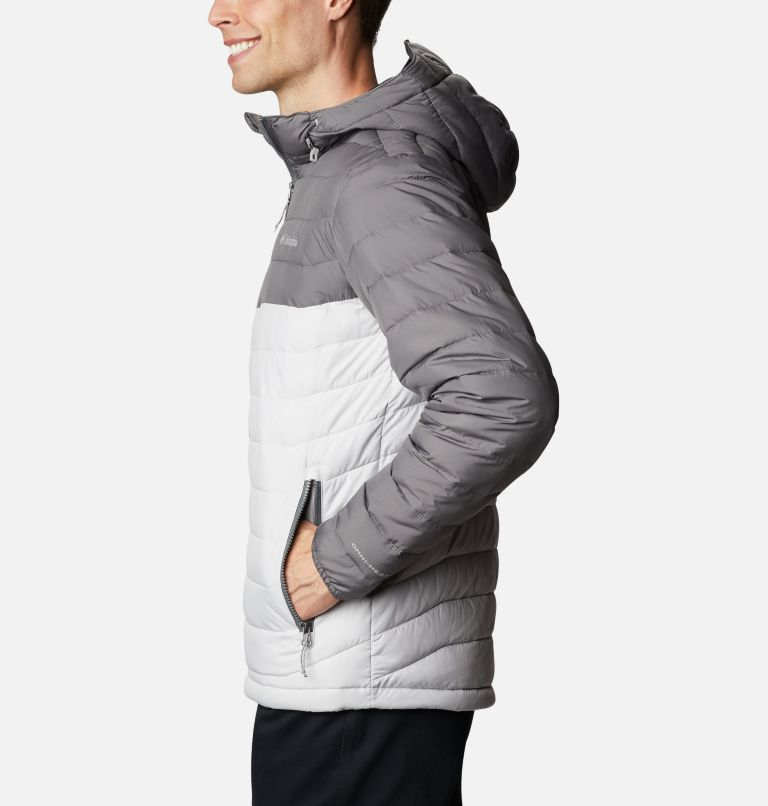 Powder Lite™ Hooded Jacket | 043 | L Men's Powder Lite™ Hooded Insulated Jacket, Nimbus Grey, City Grey, a1