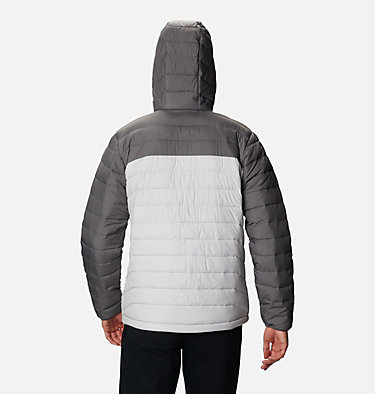 Men's Powder Lite™ Hooded Insulated Jacket Powder Lite™ Hooded Jacket | 043 | XS, Nimbus Grey, City Grey, back