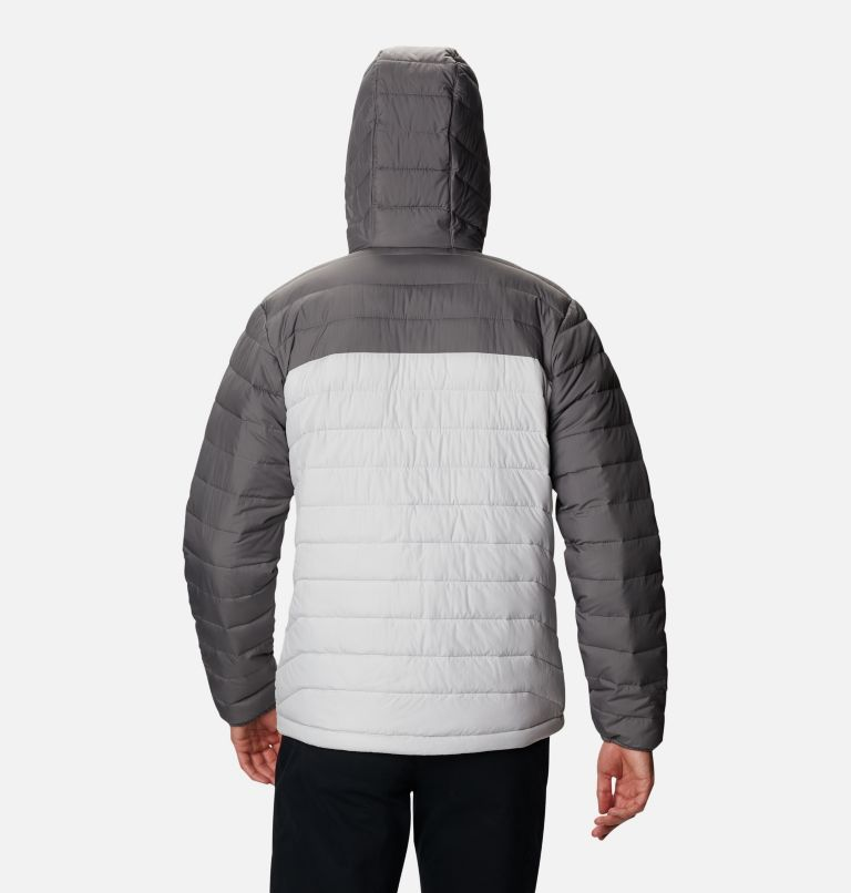 Powder Lite™ Hooded Jacket | 043 | L Men's Powder Lite™ Hooded Insulated Jacket, Nimbus Grey, City Grey, back
