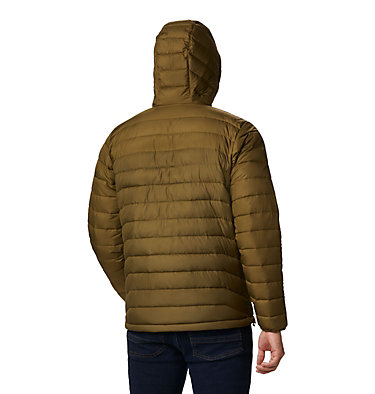 Men's Powder Lite™ Hooded Insulated Jacket Powder Lite™ Hooded Jacket | 432 | S, New Olive, Olive Brown, back