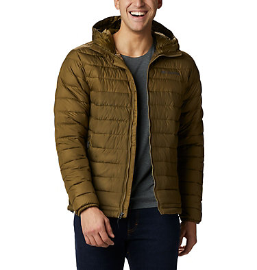 Men's Powder Lite™ Hooded Insulated Jacket Powder Lite™ Hooded Jacket | 432 | S, New Olive, Olive Brown, front