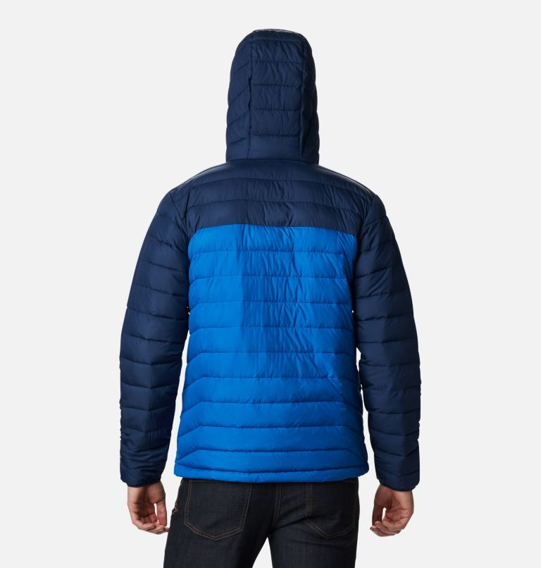 Powder Lite™ Hooded Jacket | 432 | S Men's Powder Lite™ Hooded Insulated Jacket, Bright Indigo, Collegiate Navy, back