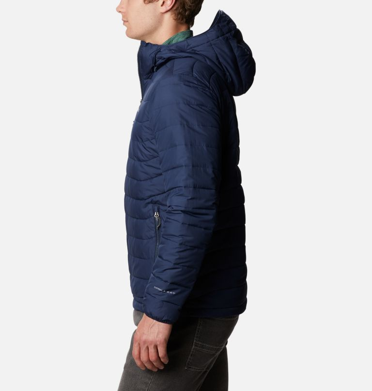 Powder Lite™ Hooded Jacket | 465 | M Men's Powder Lite™ Hooded Insulated Jacket, Collegiate Navy, a1