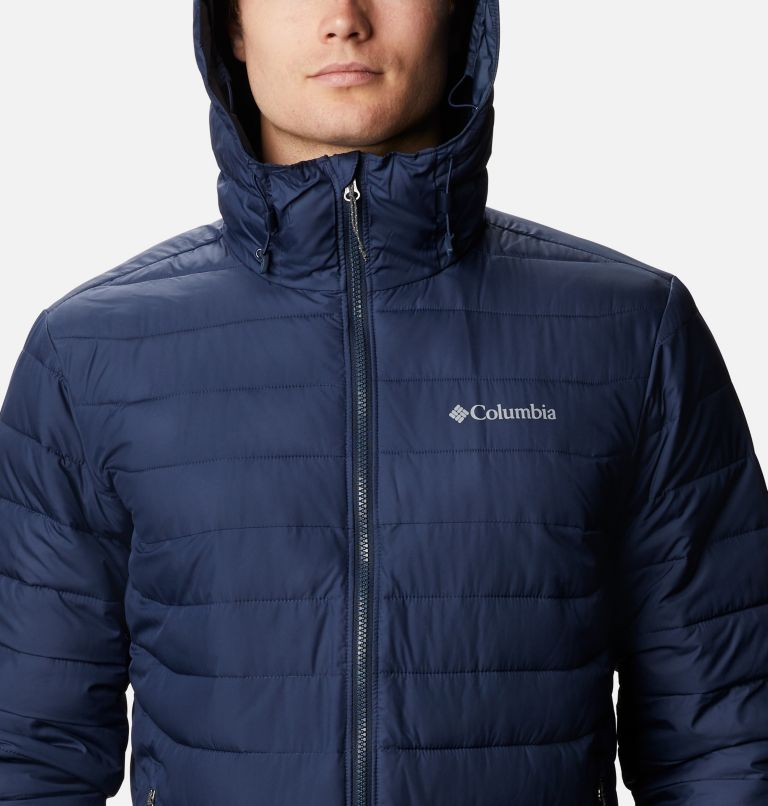 Powder Lite™ Hooded Jacket | 465 | XXL Men's Powder Lite™ Hooded Insulated Jacket, Collegiate Navy, a2