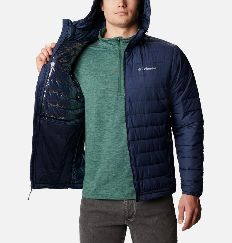 Powder Lite™ Hooded Jacket | 465 | M Men's Powder Lite™ Hooded Insulated Jacket, Collegiate Navy, a3