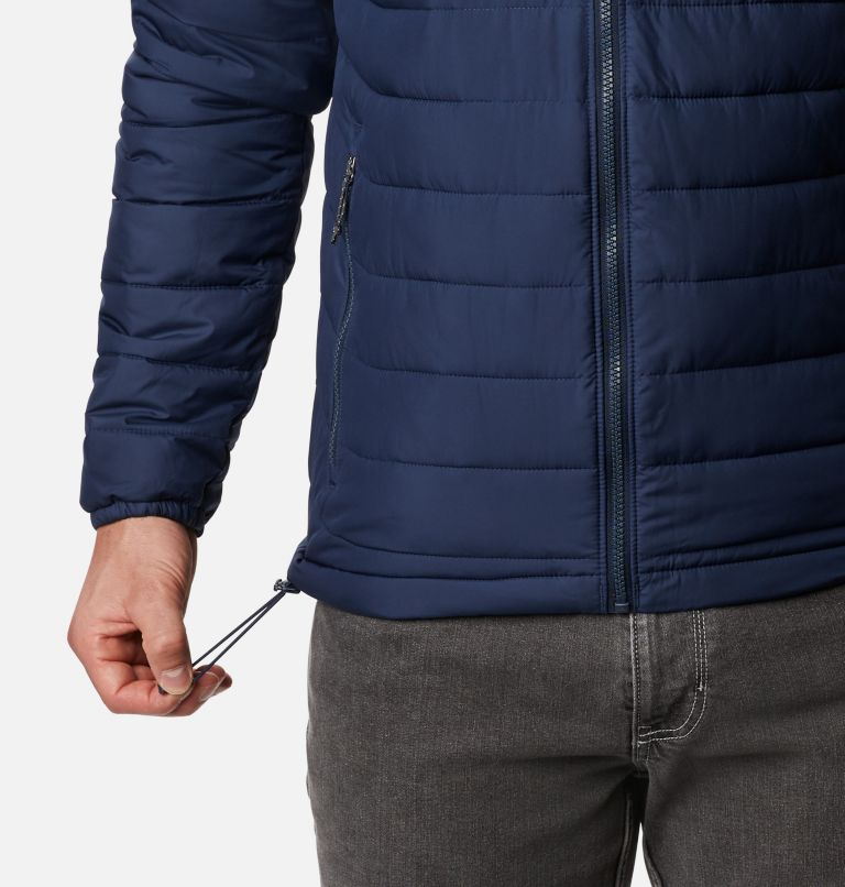 Powder Lite™ Hooded Jacket | 465 | XXL Men's Powder Lite™ Hooded Insulated Jacket, Collegiate Navy, a4