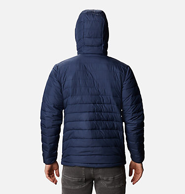 Men's Powder Lite™ Hooded Insulated Jacket Powder Lite™ Hooded Jacket | 432 | S, Collegiate Navy, back