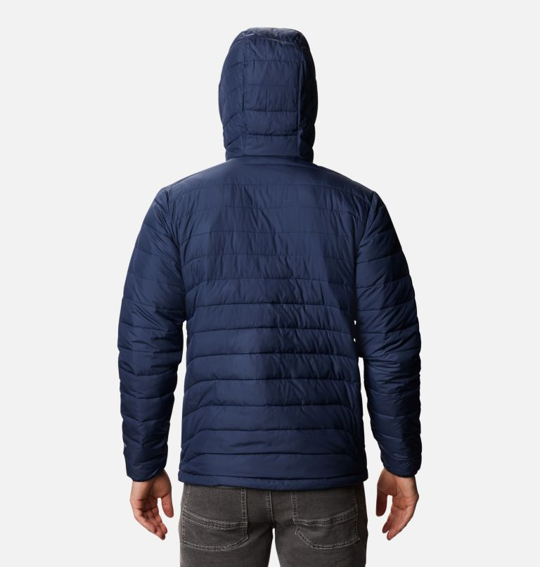 Powder Lite™ Hooded Jacket | 465 | M Men's Powder Lite™ Hooded Insulated Jacket, Collegiate Navy, back