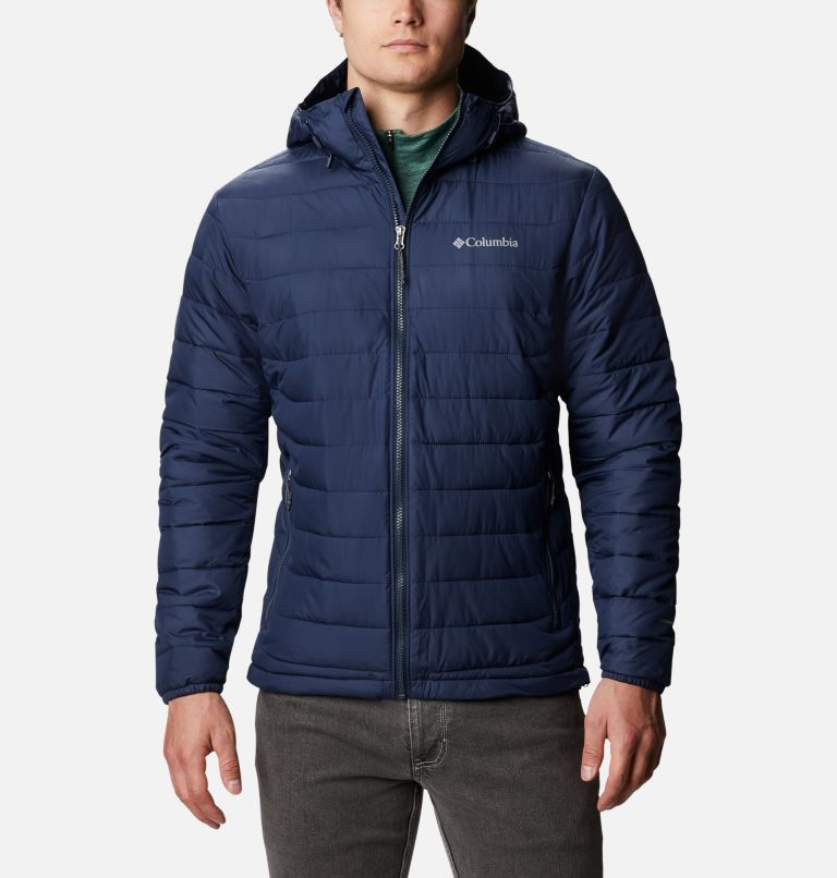 Powder Lite™ Hooded Jacket | 465 | M Men's Powder Lite™ Hooded Insulated Jacket, Collegiate Navy, front
