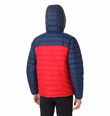Doudoune à capuche Powder Lite™ Homme Powder Lite™ Hooded Jacket | 043 | XS, Mountain Red, Collegiate Navy, back