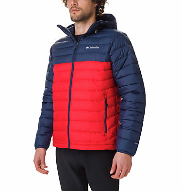 Doudoune à capuche Powder Lite™ Homme Powder Lite™ Hooded Jacket | 043 | XS, Mountain Red, Collegiate Navy, front