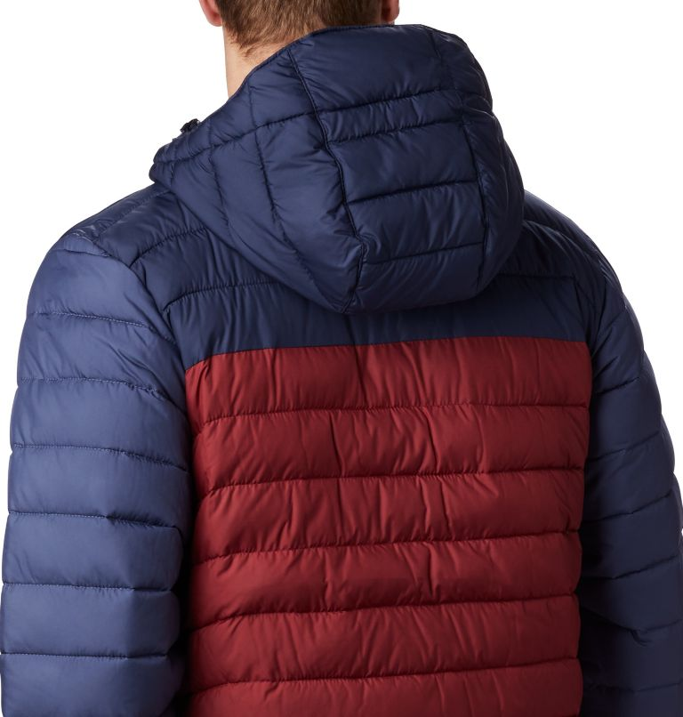 Powder Lite™ Hooded Jacket | 665 | XXL Doudoune à capuche Powder Lite™ Homme, Red Jasper, Collegiate Navy, a1