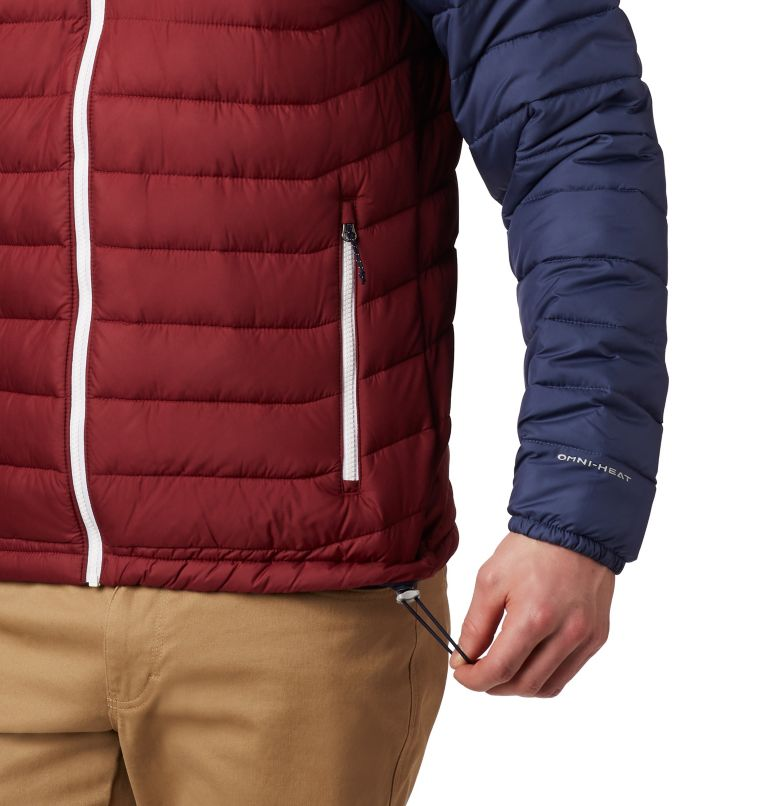 Powder Lite™ Hooded Jacket | 665 | XXL Doudoune à capuche Powder Lite™ Homme, Red Jasper, Collegiate Navy, a2