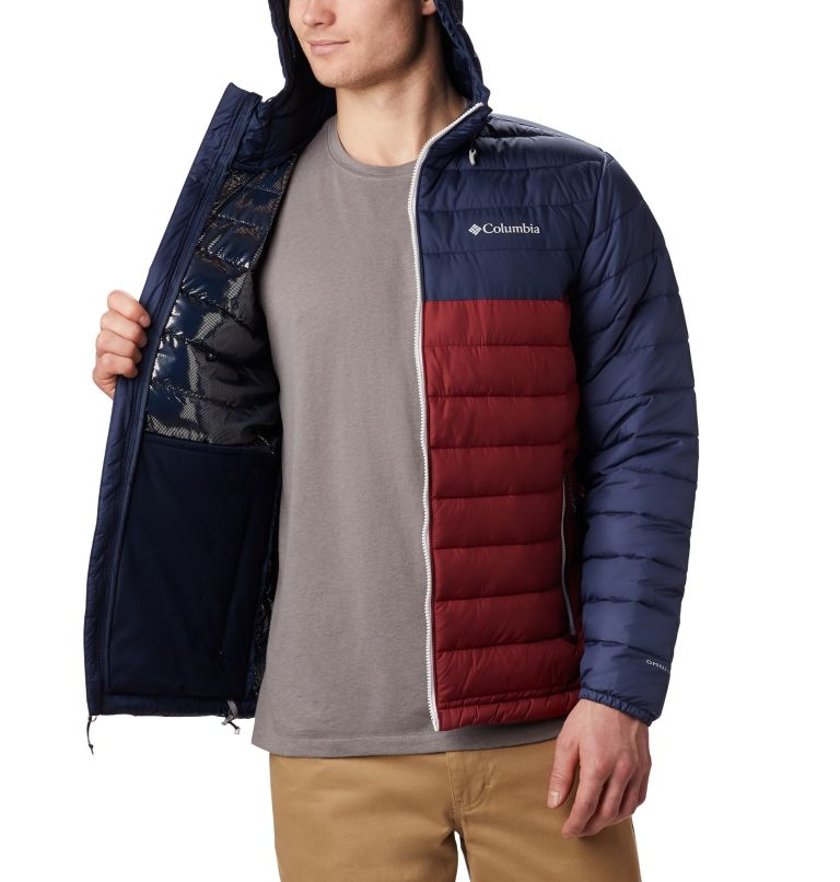 Powder Lite™ Hooded Jacket | 665 | M Doudoune à capuche Powder Lite™ Homme, Red Jasper, Collegiate Navy, a3