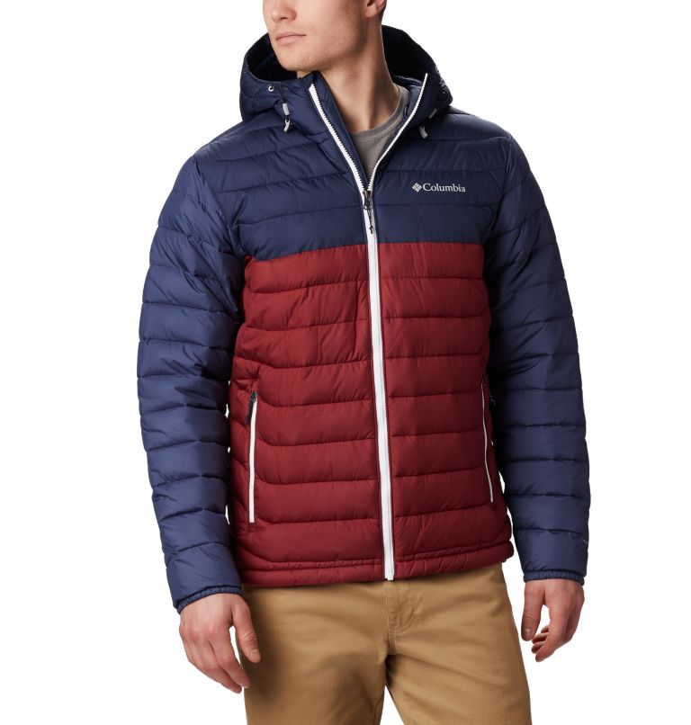 Powder Lite™ Hooded Jacket | 665 | M Doudoune à capuche Powder Lite™ Homme, Red Jasper, Collegiate Navy, front